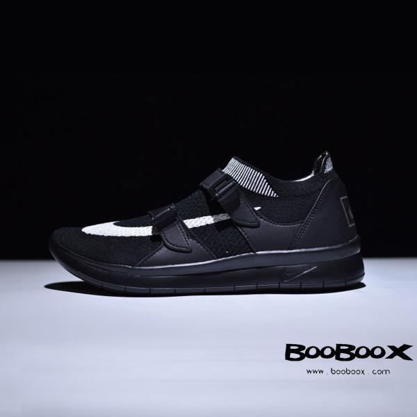 """男女鞋真标!2017耐克Nike Air Sock Racer Ultra Flyknit Big Swoosh  内置气垫赛车系列飞线套脚袜子鞋""""黑白大钩""""904580-001 - BOOBOOX-终端供货 cbce3dd4a8"""